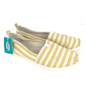 Yellow Striped Lillianna Slip On Sneakers